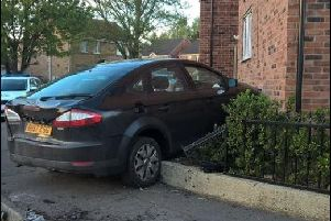 A car crashed into a house in Stainforth, Doncaster.