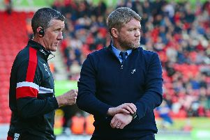 Grant McCann with assistant boss Cliff Byrne