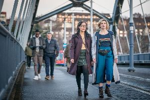 Filming of Doctor Who in Sheffield. (Photo: BBC).