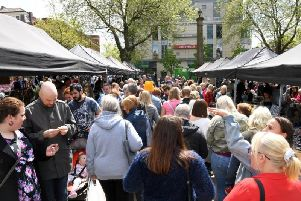 The first Makers Market on Preston's Flag Market