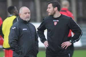 Matlock Town boss Steve Kittrick, left, is looking for a new assistant  after Chris Bolder left the club.