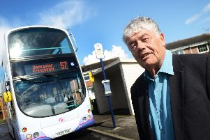 Doug Wright, pictured at Cantley Terminus, spoke to Doncaster cabinet about his concerns on the town's deteriorating bus service. Picture: Marie Caley D5498MC