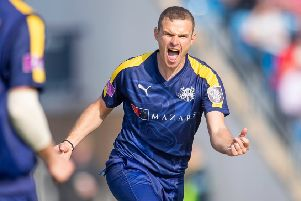 Yorkshire bowler Josh Poysden is finding form with Farsley. PIC: Allan McKenzie/SWpix.com
