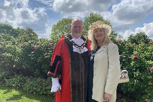 New Mayor of North Lincolnshire, Coun Jonathan Evison, and Mayoress Soozy Evison
