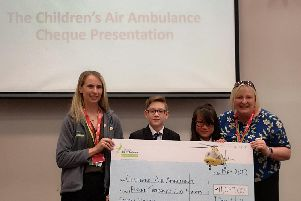 Don Valley Academy students raise 11,000 to support Childrens Air Ambulance charity