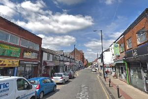 The incident occurred on Bradshawgate in Leigh on Wednesday, May 22