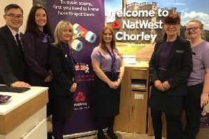 NatWest employees at the Chorley branch