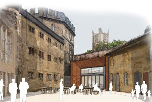 An artist's impression of the new look castle courtyard