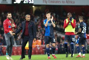Picture Jez Tighe/JPImedia, Football, Carabao Cup, Arsenal v Nottingham Forest, The Emirates Stadium, London, UK, 24/09/19, K.O 19-45pm'''Nottingham Forest Head Coach Sabri Lamouchi and his players after the match
