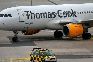 Thomas Cook collapsed last month. Photo - INA FASSBENDER/AFP via Getty Images