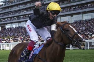 Frankie Dettori will be hoping to round off a memorable season on star stayer Stradivarius at Ascot on Saturday. (PHOTO BY: Alan Crowhurst/Getty Images)