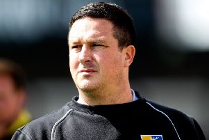 BRISTOL, ENGLAND - MAY 03: Mansfield manager Paul Cox looks on prior to during the Sky Bet League Two match between Bristol Rovers and Mansfield Town at Memorial Stadium on May 3, 2014 in Bristol, England.  (Photo by Ben Hoskins/Getty Images)