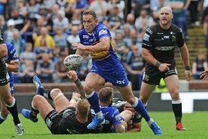 Shaun Lunt in action for Leeds Rhinos.