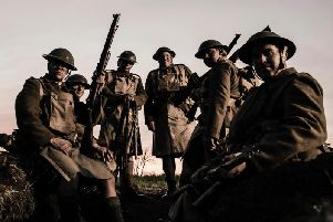 A rare moment of relaxation in a reconstruction from 100 Days to Victory, a new drama-documentary on BBC2
