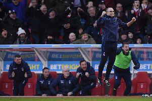 NOTTINGHAM, ENGLAND - FEBRUARY 09: Martin O'Neill of Nottingham Forest jumps in celebration as Molla Wague scores the second goal during the Sky Bet Championship match between Nottingham Forest and  Brentford at City Ground on February 09, 2019 in Nottingham, England. (Photo by Laurence Griffiths/Getty Images)