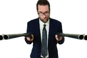 Gary Delaney promotes Gagsters Paradise. Photo by Andy Hollingworth.