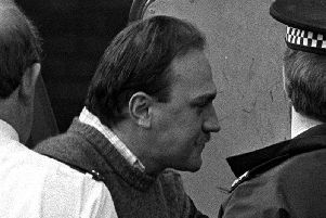 Ian Simms at St Helens Magistrates Court in 1988. The murderer who has refused for more than 30 years to disclose what he did with his victim's body has reportedly been allowed out of jail on temporary release