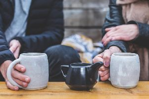 Stock photo of a coffee date