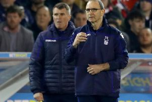 Forest manager Martin O'Neill, right, and his assistant Roy Keane,