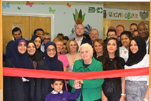 The opening of the new play area