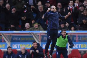 Martin O'Neill was delighted with his players after the win over Swansea City. (Photo by Laurence Griffiths/Getty Images)