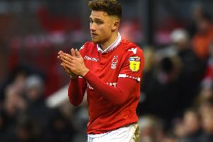 NOTTINGHAM, ENGLAND - JANUARY 26: Matty Cash of Nottingham Forest during the Sky Bet Championship match at City Ground on January 26, 2019 in Nottingham, England. (Photo by Tony Marshall/Getty Images)