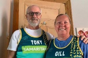 Tony and Gill Howarth will run the London Marathon 2019