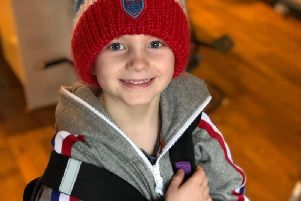 Rory Deakin, six, is to complete a swim for Bluebell Wood.