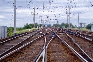 The Acton Grange junction, on the West Coast Main Line, which is to be closed for 16 days in July and August, causing major disruption to rail passengers