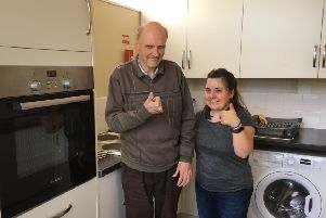 Darley Dale and Matlock Co-op Local Community Fund has donated more than �6,000 to refurbish the kitchen s at Greenaway Workshop, which helps people with long-term health problems through therapeutic work. Pcitured are David Sears and Toni Thorneycroft.
