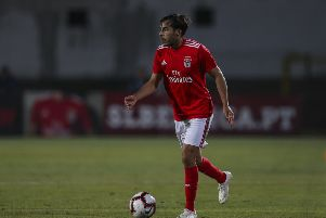 SETUBAL, PORTUGAL - JULY 13: SL Benfica defender Yuri Ribeiro from Portugal during the match between SL Benfica and Vitoria Setubal FC for the Internacional Tournament of Sadoat Estudio do Bonfim on July 13, 2018 in Setubal, Portugal. (Photo by Carlos Rodrigues/Getty Images)