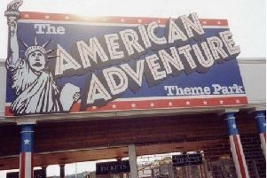 The former main entrance to the theme park