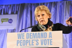 Anna Soubry had abuse shouted at her outside Parliament