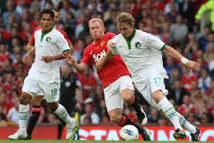 Dane Murphy of New York Cosmos during Paul Scholes' Testimonial match between Manchester United and New York Cosmos at Old Trafford on August 5, 2011.  (Picture: Matthew Peters/Manchester United via Getty Images)