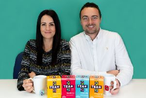 Jade and James Dawson, founders of Harrogate-based TEA+, which makes a range of vitamin-infused teas.