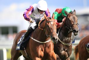 Karl Burke's stable star Laurens is due to reappear at next week's Ebor festival.