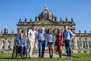 The Countryfile team at Castle Howard. Photo: Charlotte Graham. Copyright: �2019 Charlotte Graham- CAG Photography.