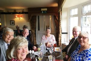 Members and guests of Filey and Burlington Probus Clubs at the North Star in Flamborough.