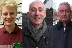 The three candidates for the Chorley constituency