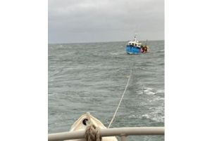 Azalea being towed. Picture: RNLI