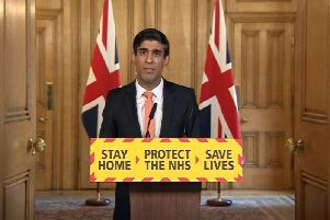 Chancellor Rishi Sunak during a media briefing in Downing Street, London, on coronavirus. Photo: PA