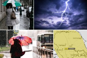 This hot and humid weather can trigger thunderstorms