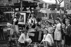 1953 coronation pageant in Settle. Dales photographer tom faulkner