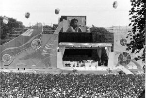 The Rolling Stones entertain a packed Roundhay Park, Leeds, in 1982