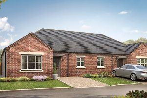 An artist's impression of one of the bungalows at the Filey development.