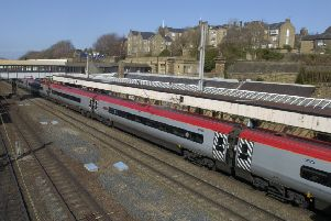 Lancaster Railway Station. Stock Picture.