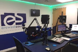 The newly refurbished DHL UK Foundation funded training studio at the Erewash Sound Media Centre in Cotmanhay, which has just secured permission for a second transmitter to improve its broadcasting in Long Eaton.