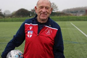 Neil Willetts was man of the match for England at walking football  Picture: FLEETWOOD TOWN