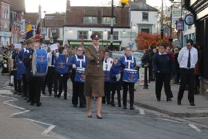 The Pocklington Remembrance Day Parade in Market Place was led by Market Weighton Boys Brigade Band.