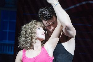 Kira Malou (Baby) Michael O'Reilly (Johnny) performing in Dirty Dancing - The Classic Story on Stage pictures: Alastair Muir